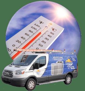 air conditioning service van
